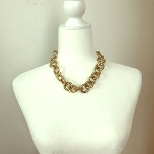 J. Crew Chunky Gold Chain Necklace